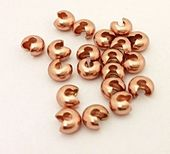 HALF PRICE! Rose Gold Colour 5mm Crimp Covers x 20